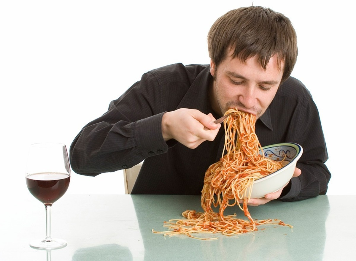 Eating Spaghetti Can Be Disgusting.