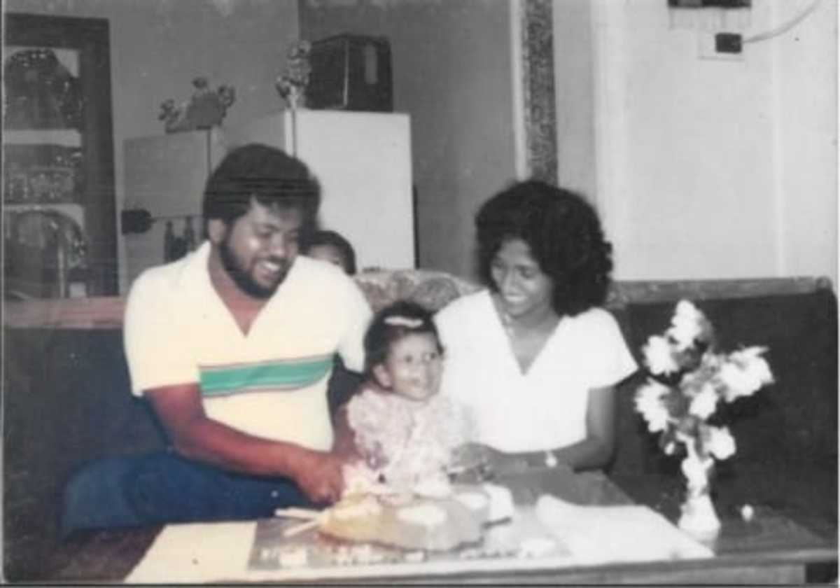 This is my favourite picture of my Thaththi and Ammi ( Father and Mother)