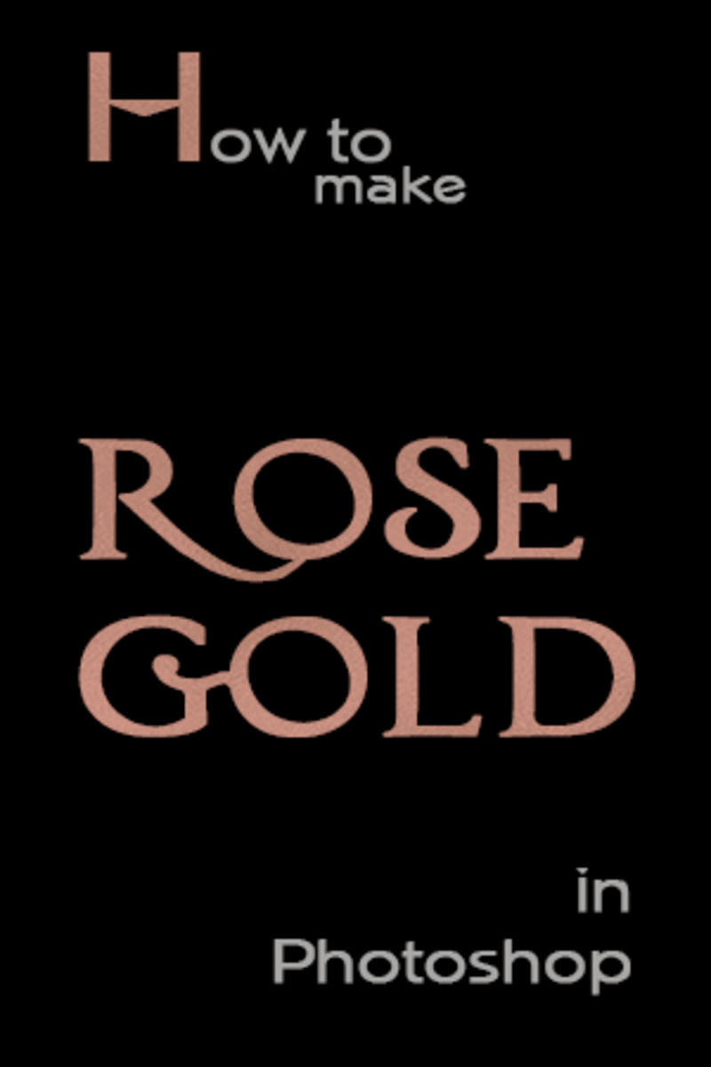 How to Make Rose Gold Foil in Photoshop