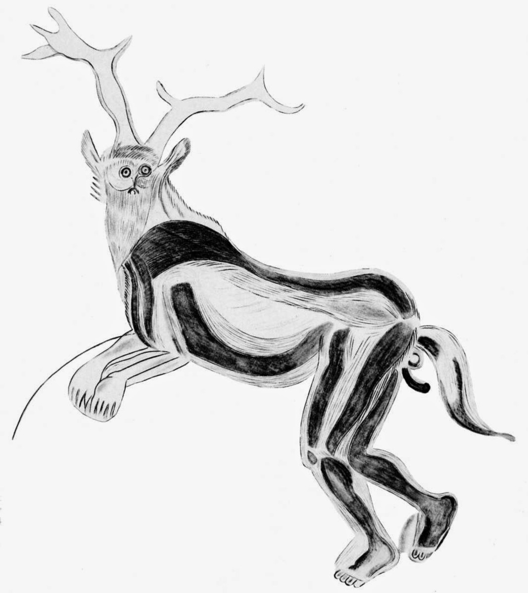 The Sorcerer, a Paleolithic cave painting thought to depict a shaman