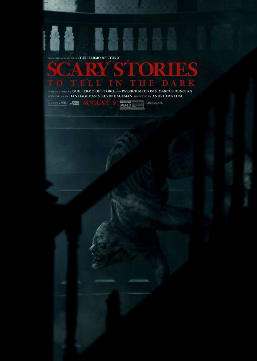 """One of several theatrical one-sheet posters for, """"Scary Stories to Tell in the Dark."""""""