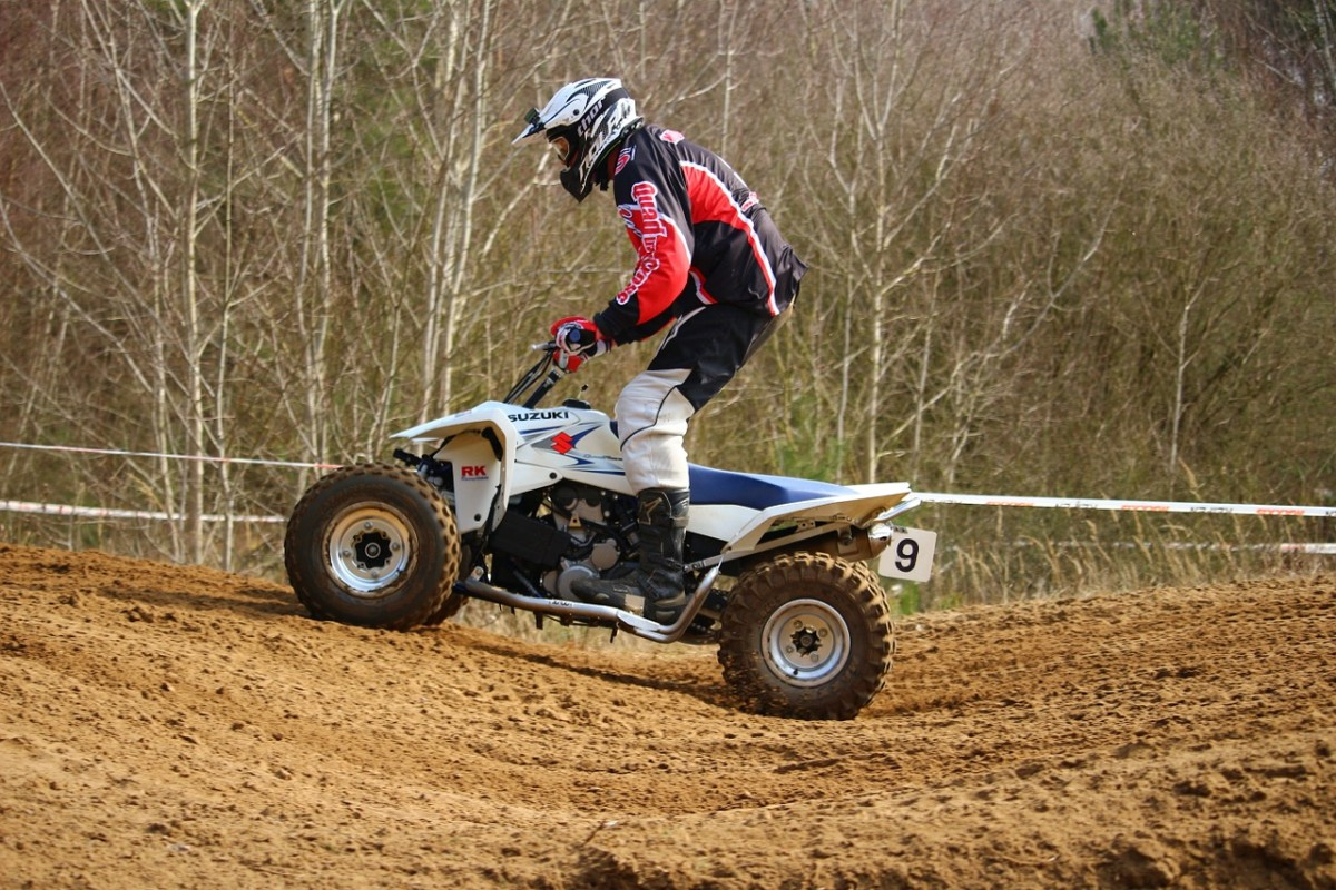 A four-wheeler ATV