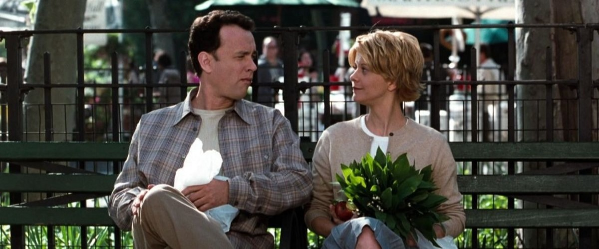 Tom Hanks as Joe and Meg Ryan as Kathleen in You've Got Mail