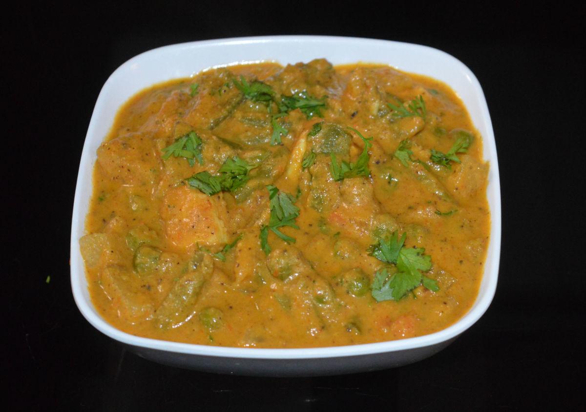 Paneer and Vegetable Kurma (Curry) Recipe