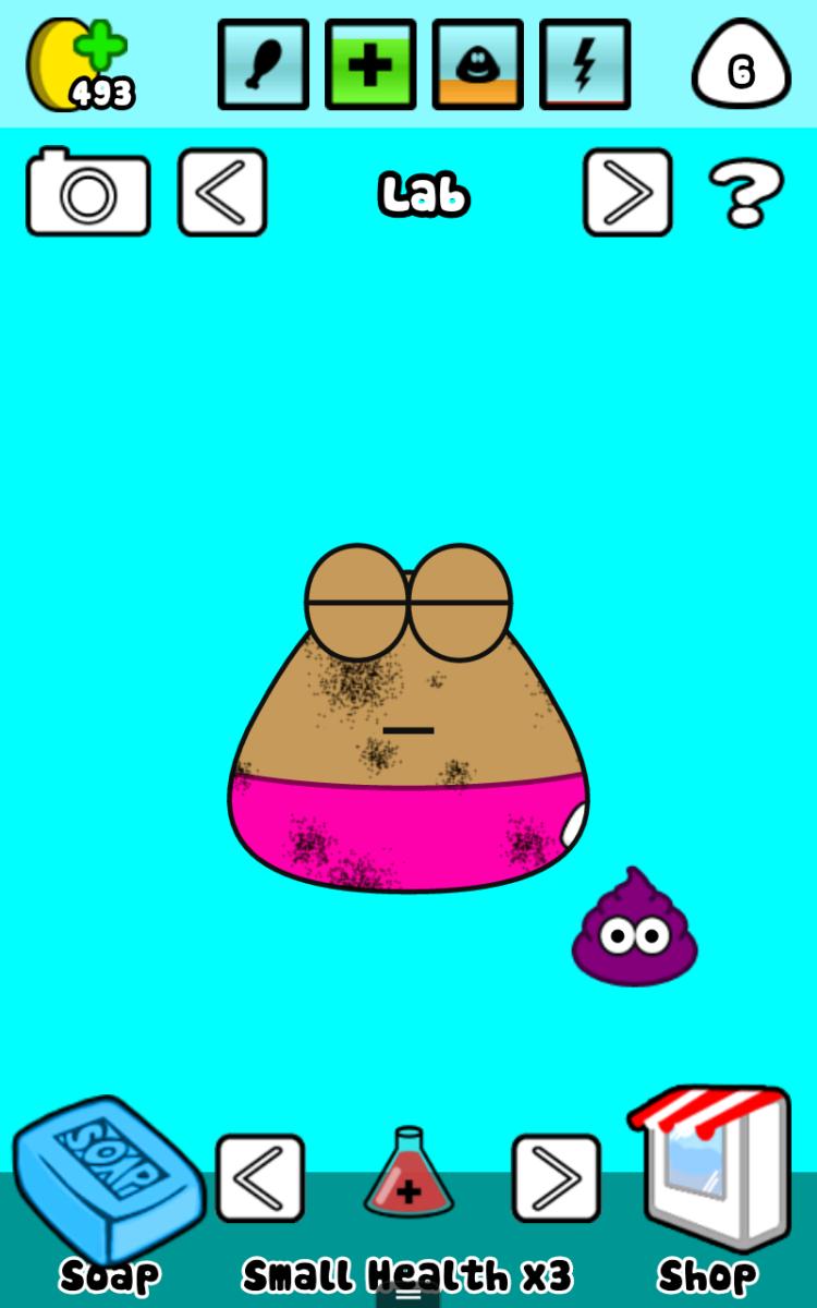 Pou is, well, poo. Really. And mine needs a bath!