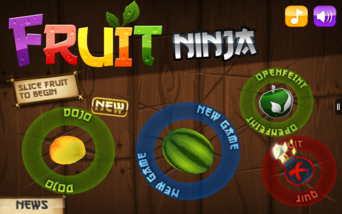 """It is virtually impossible to get an in-game screenshot of """"Fruit Ninja""""!"""
