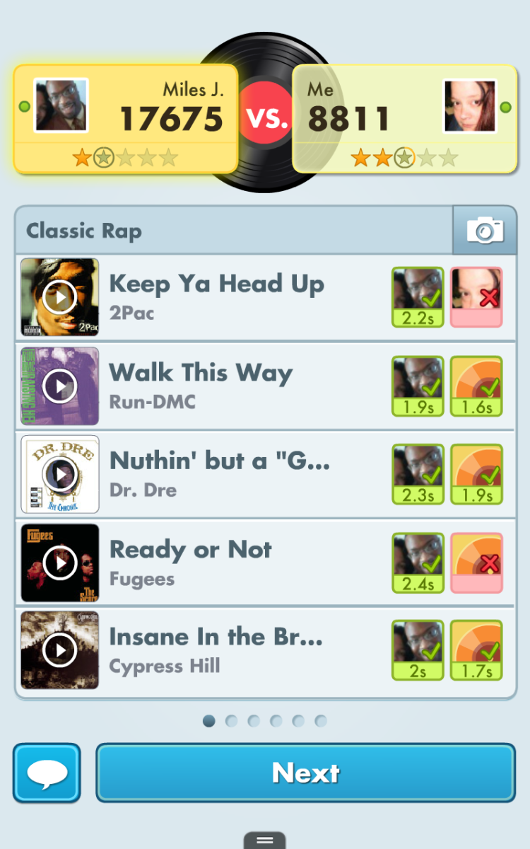 """""""Song Pop"""" is fun, seriously, and a great way to test your music knowledge. I'm kind of ashamed that I missed that Tupac one!"""