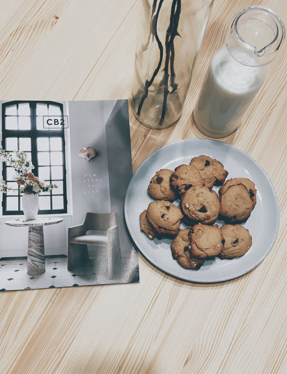 To celebrate the day, I baked (what else?) chocolate chip cookies. I love dunking them in a glass of milk. Yummy!