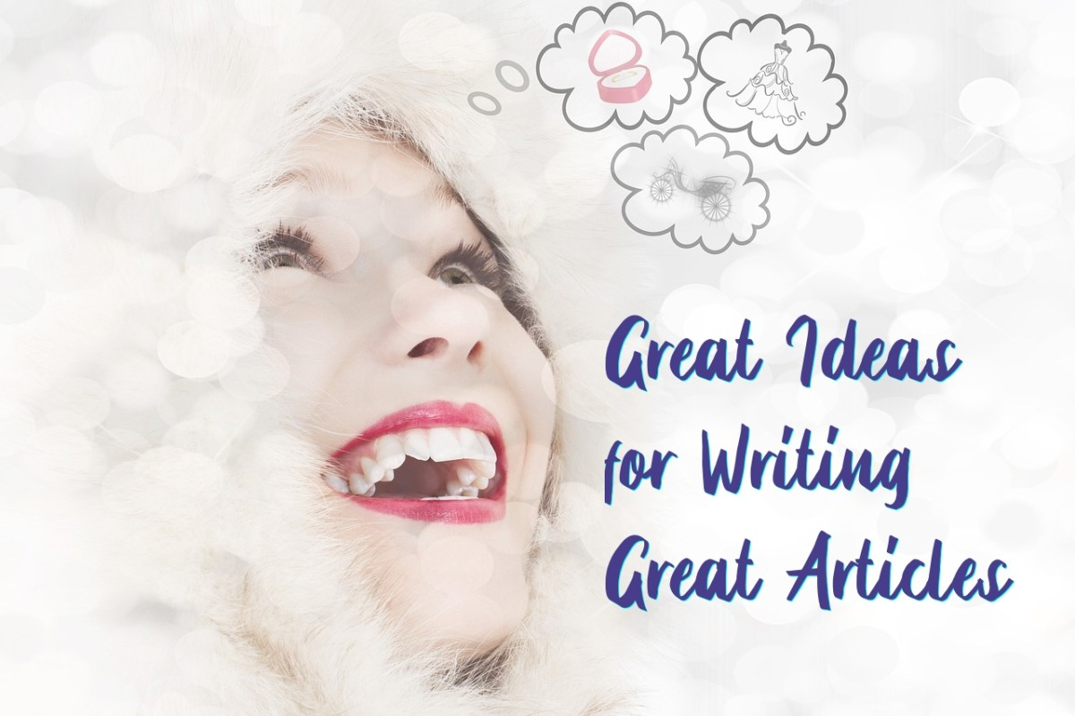 Writers rely on fresh ideas to keep the words flowing!