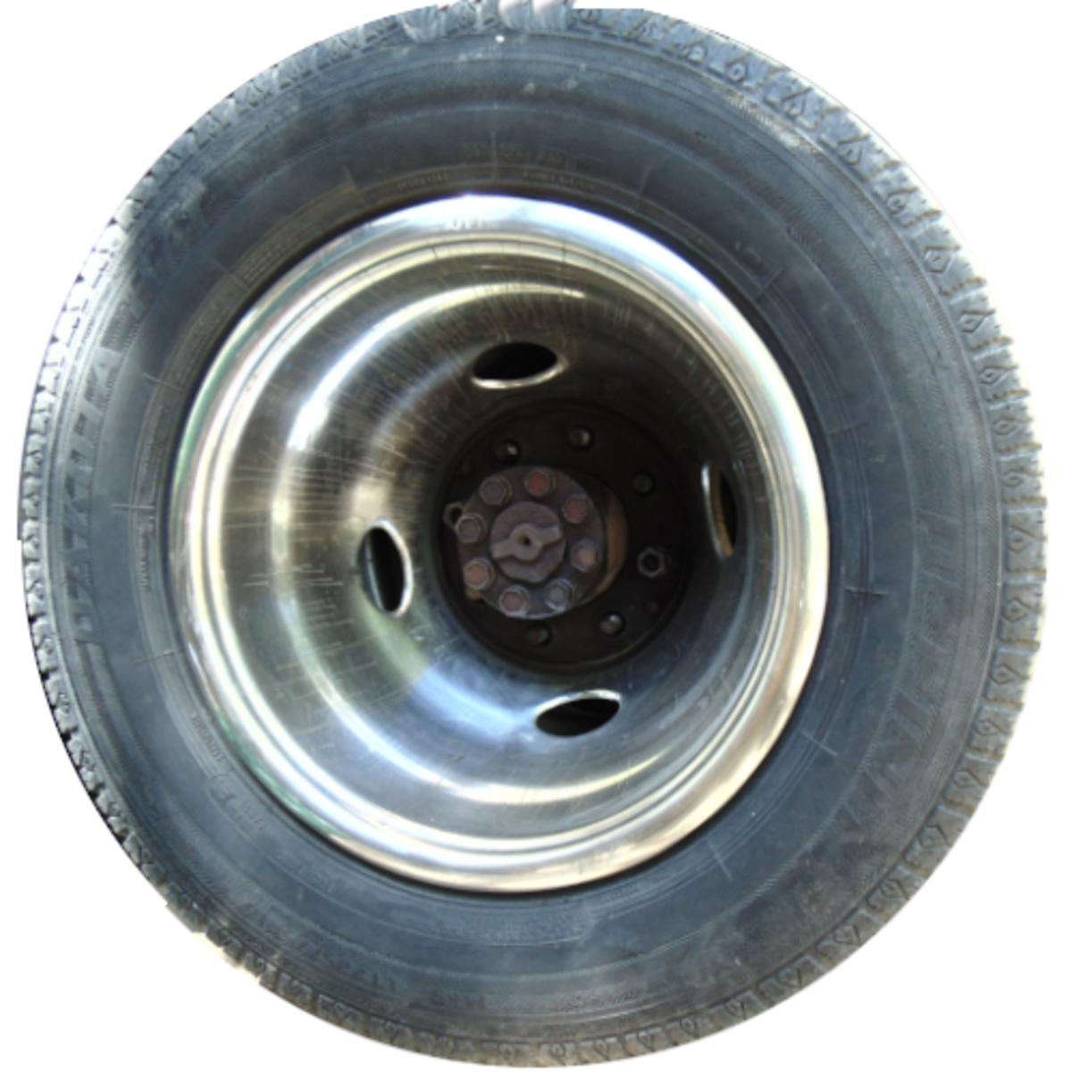 Streaks of brake fluid on rim