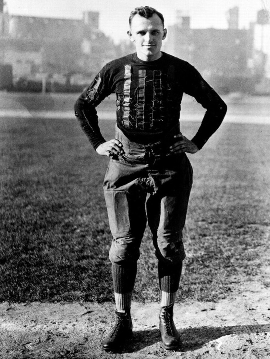 A young George Halas as Player/Coach