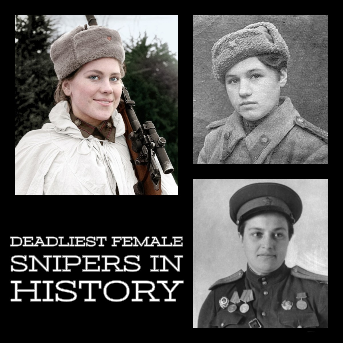 The 10 deadliest female snipers in history.