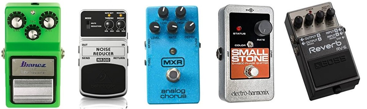 the first five guitar effects pedals you need for electric guitar spinditty. Black Bedroom Furniture Sets. Home Design Ideas