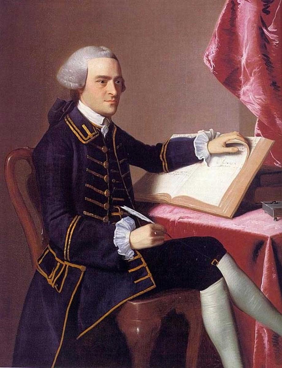 John Singleton Copley's portrait of John Hancock, 1765.