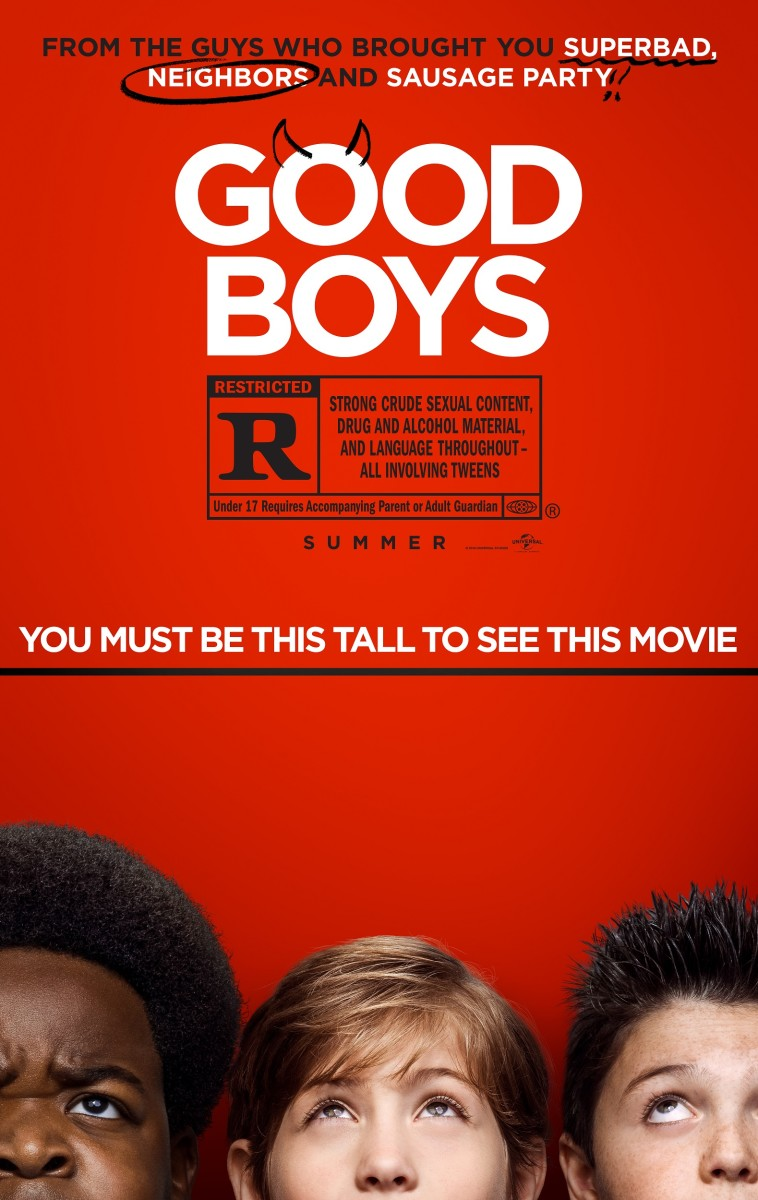 """The official one-sheet theatrical poster for, """"Good Boys."""""""