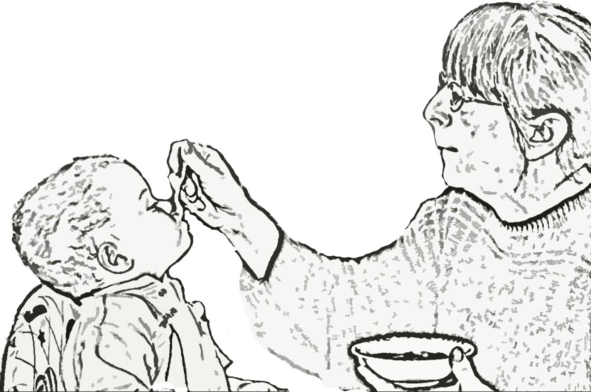 Babyfütterung - Elmar Ersch
