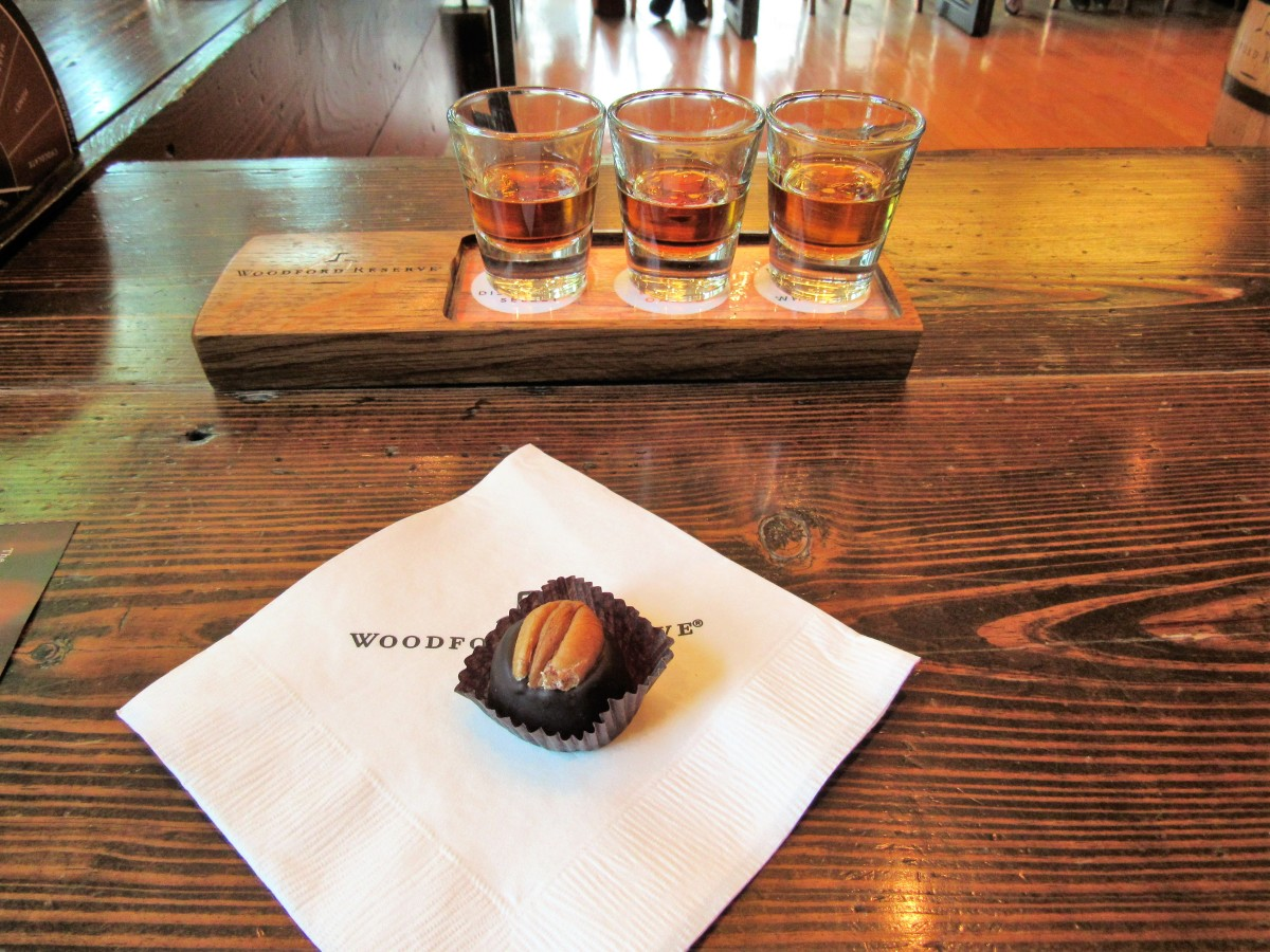 At the Woodford Reserve Bourbon Tasting, they also gave us a chocolate bourbon ball with this tasting, which really helped to balance out the flavors while allowing us to fully savor the distinct notes of the bourbon.
