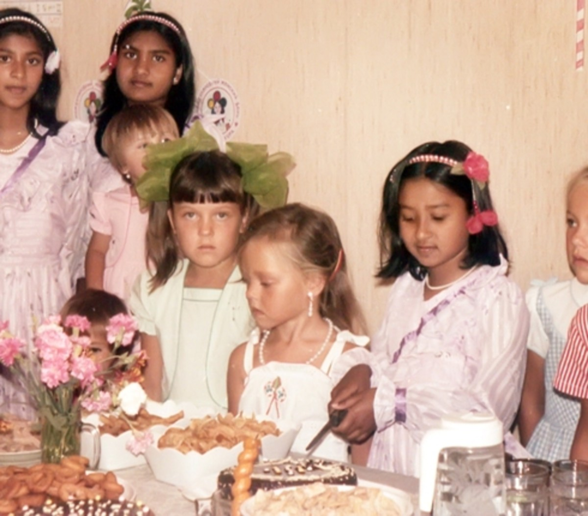 Russian Children, My Sisters and Myself at My Little Sister's Birthday Party