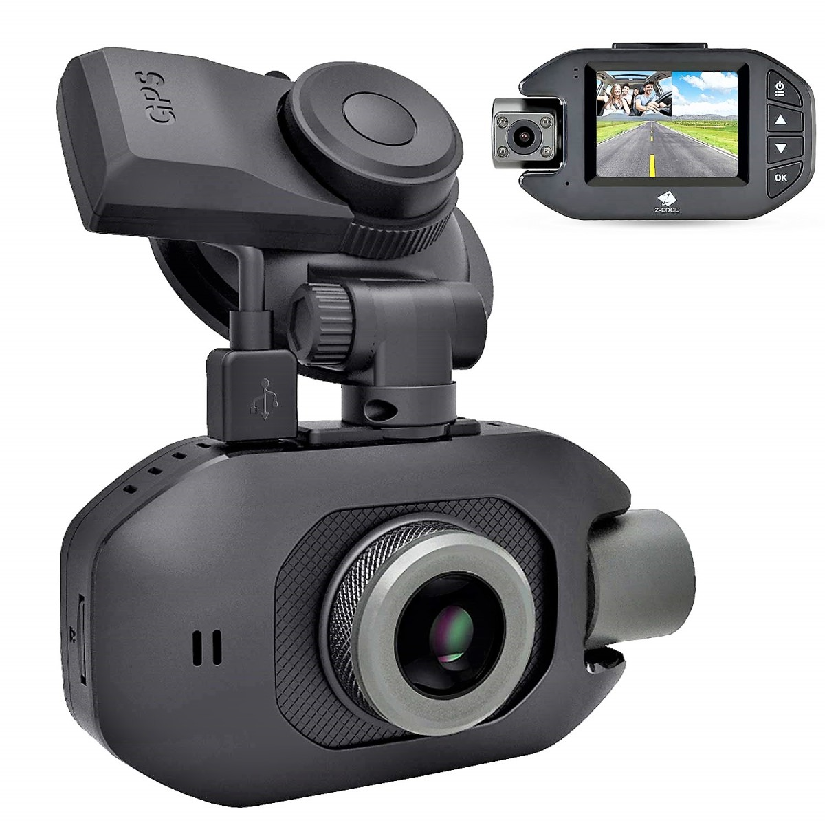 Z3Pro Dash Cam: Best Uber & Lyft Dual Lens Security Camera