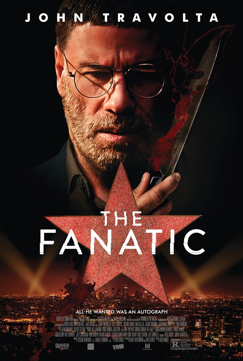 """The official theatrical poster for, """"The Fanatic."""""""