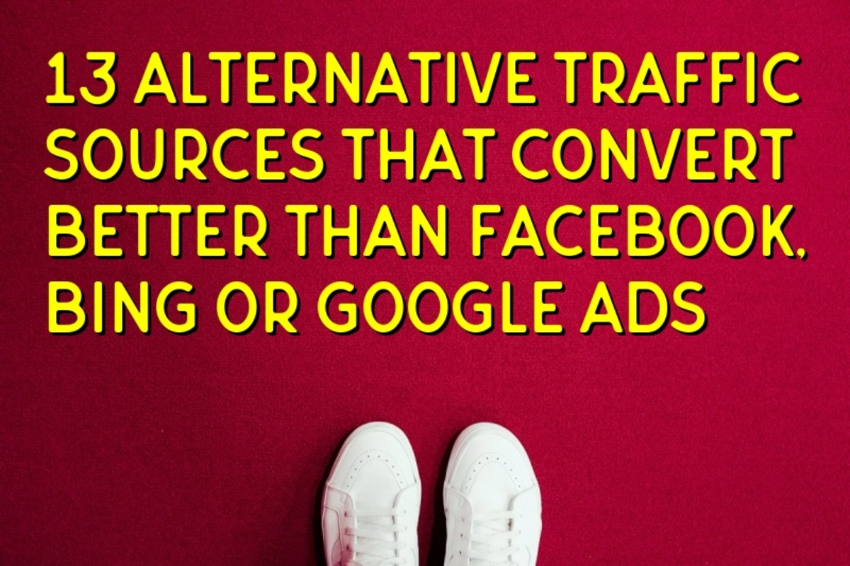 Wet Your Feet with 13 alternative paid traffic sources