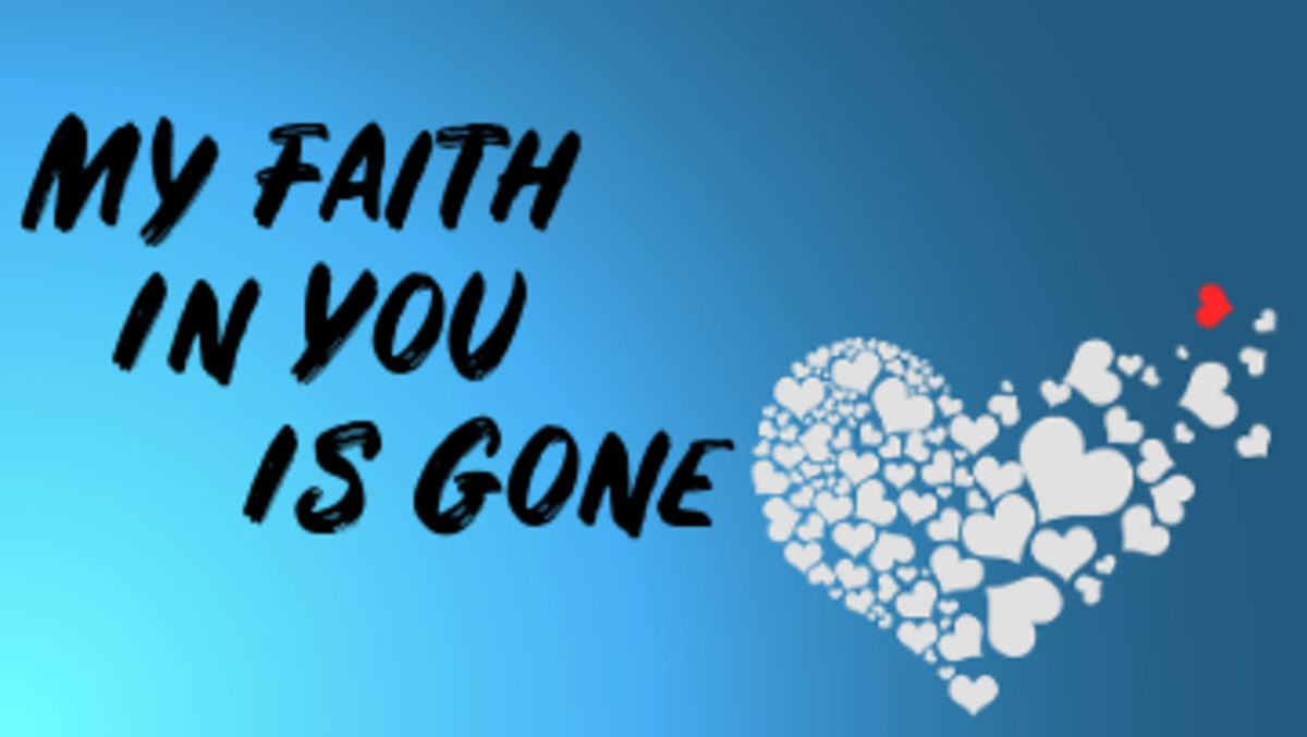 Poem: My Faith in You Is Gone