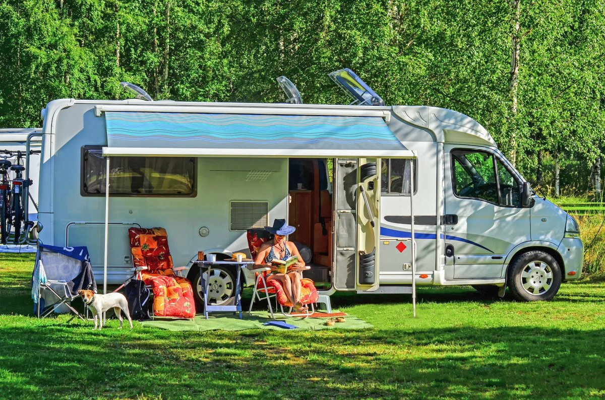Class B RVs are up to 23 feet typically, and contain plenty of living space for two people.