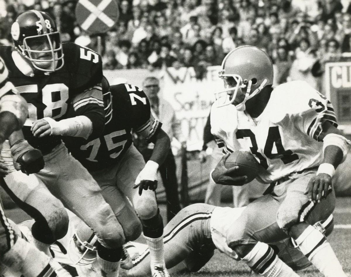 Pittsburgh Steelers linebacker Jack Lambert in 1975