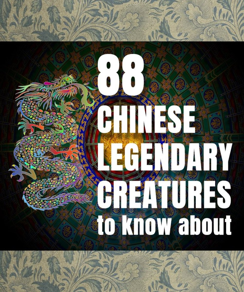 88 Chinese mythical creatures, demons, and monsters.