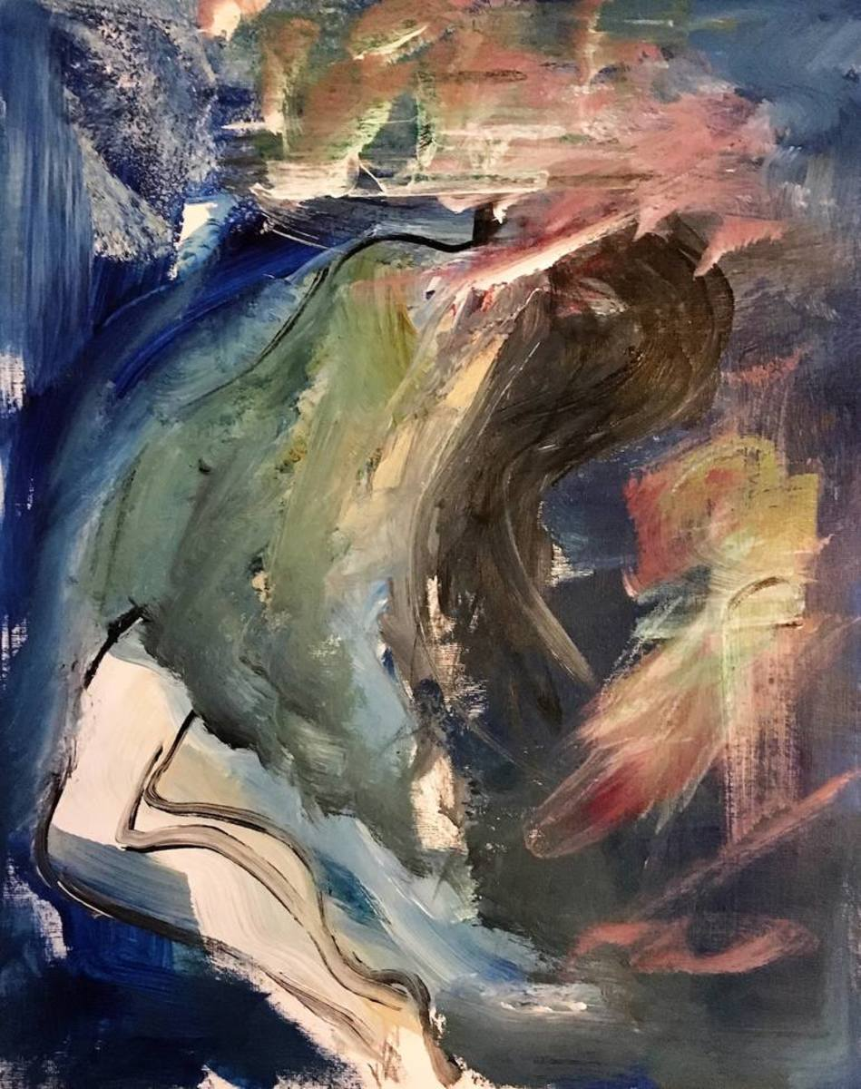 The Drowning Girl Painting by Emma Visca
