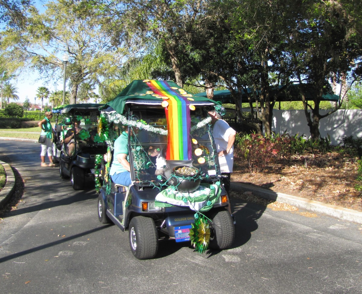 Decorate a Golf Cart for Your St. Patrick's Day Parade