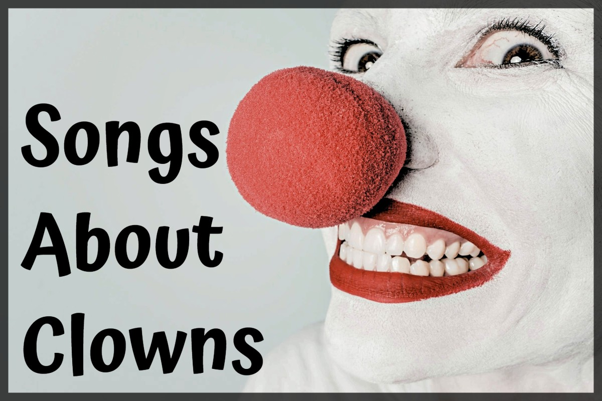 Got a clown in your life? Clowns can be funny, sad, creepy, or just plain evil. Make a playlist of pop, rock, country, metal, and R&B songs about these entertaining jokesters.