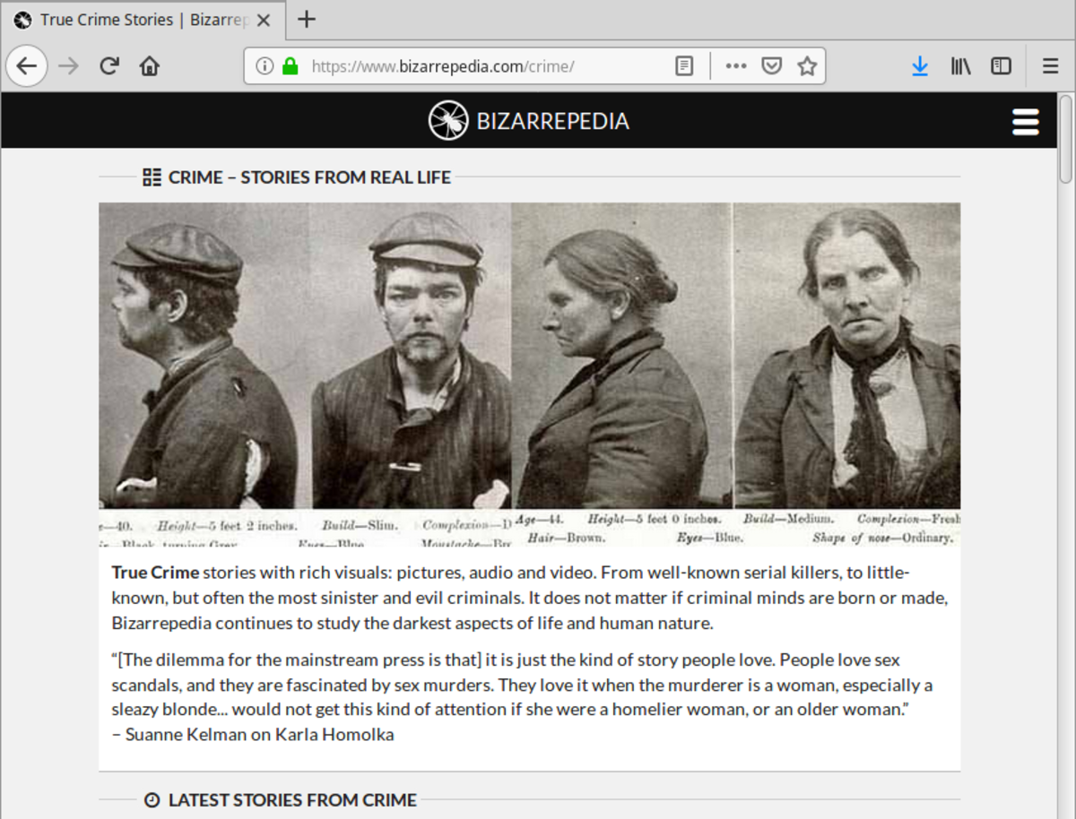 True Crime Collection: Web Scraping Using Python and Beautiful Soup
