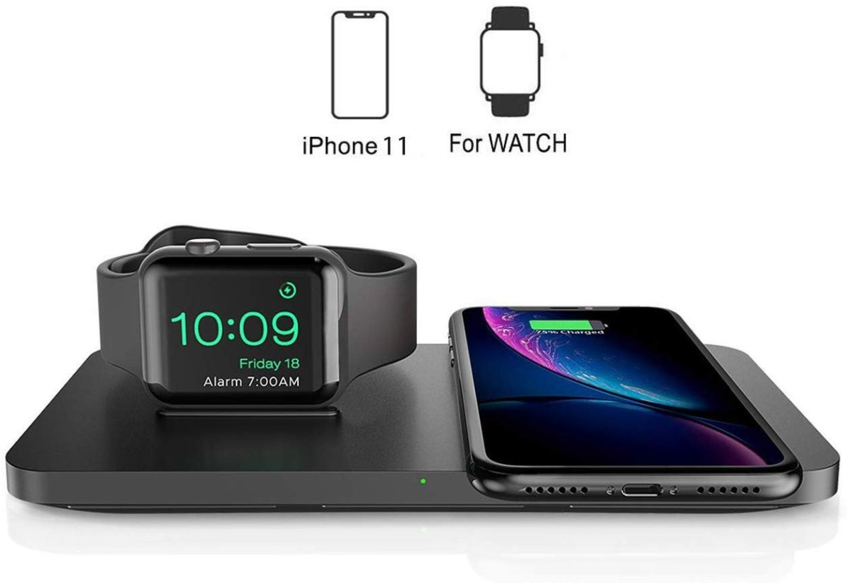 Review of Seneo 2-in-1 Wireless Charger for Apple Watch & iPhone 11