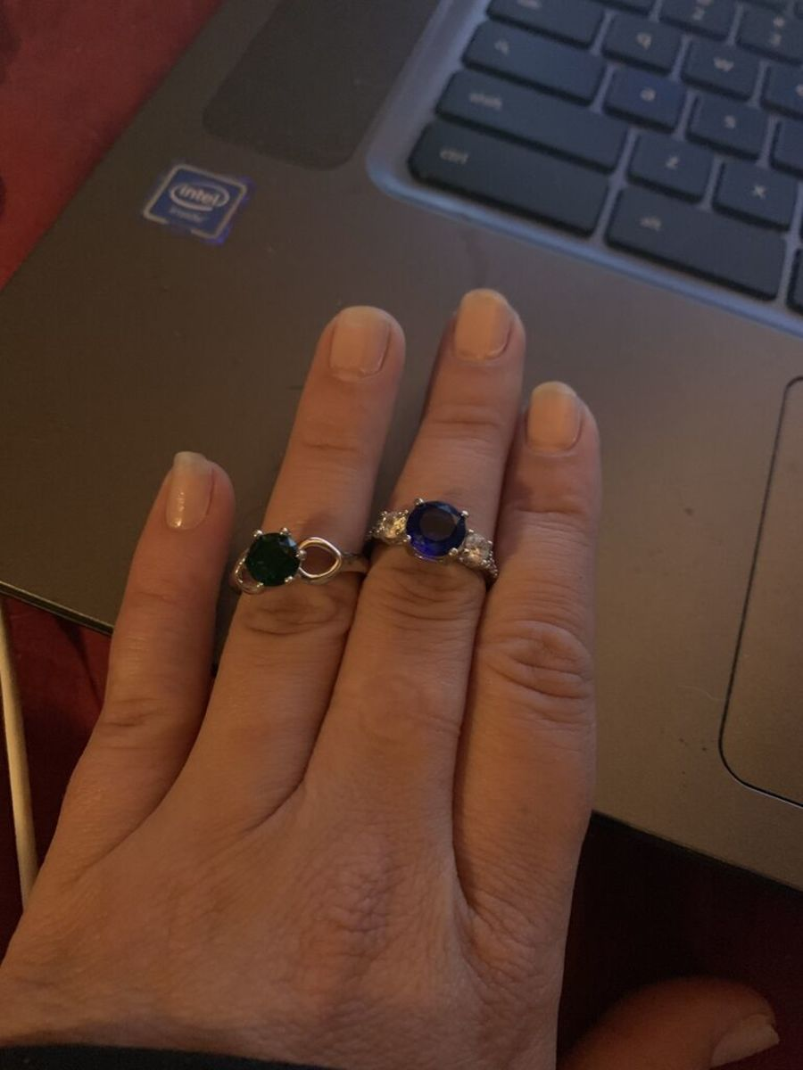Two of the three rings I received.