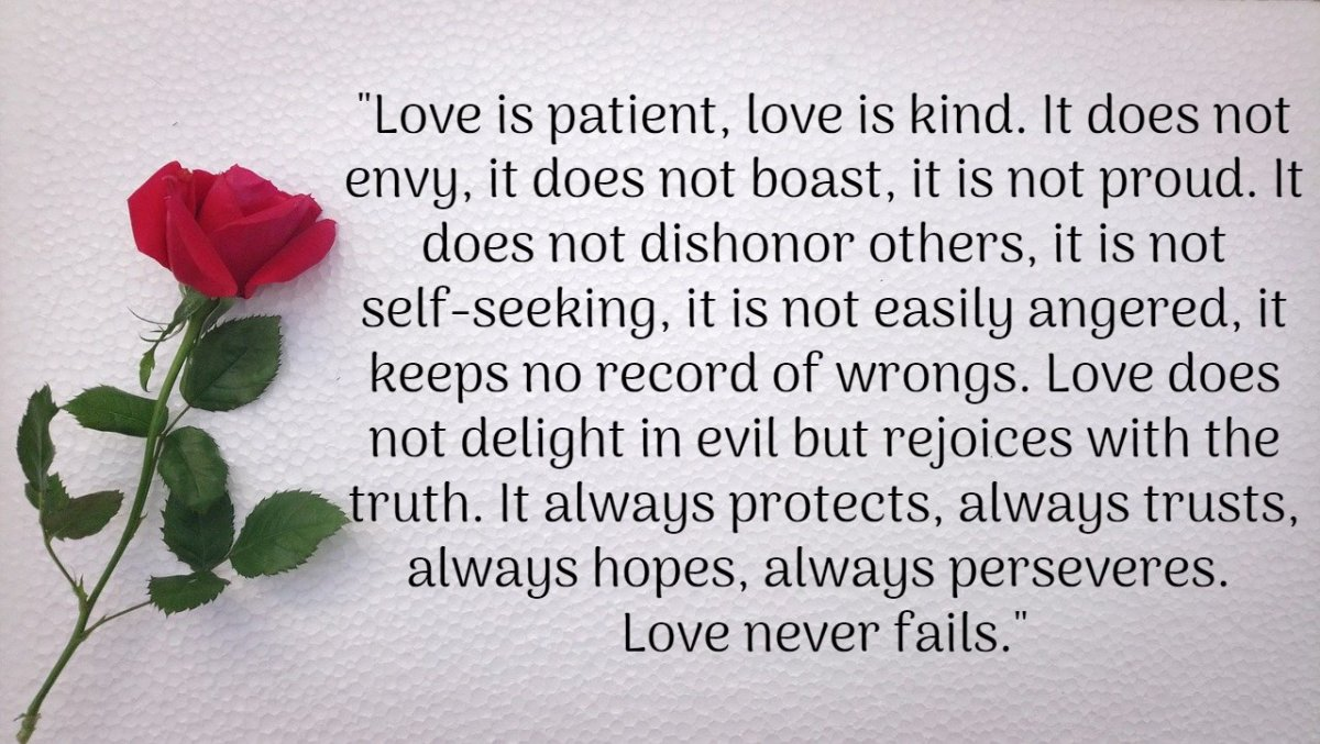 What Is The Love Is Patient Kind And Never Fails Poem