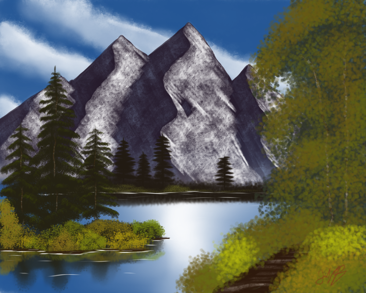 How to Start Painting Like Bob Ross Digitally for Free