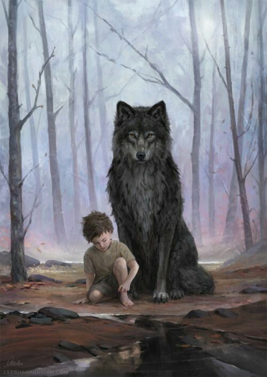 The Boy with the Wolf