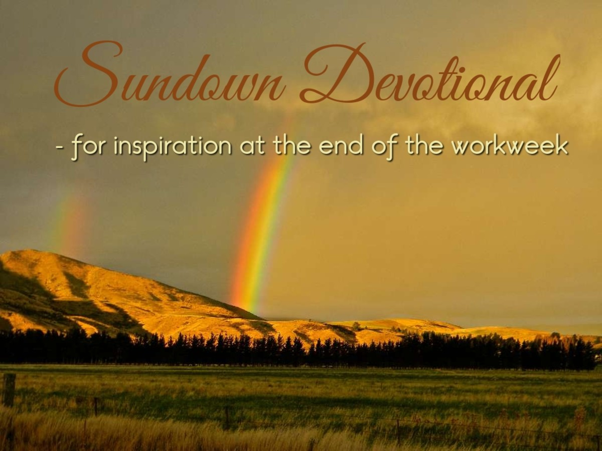 Sundown Devotional: The Rainbow in the Clouds
