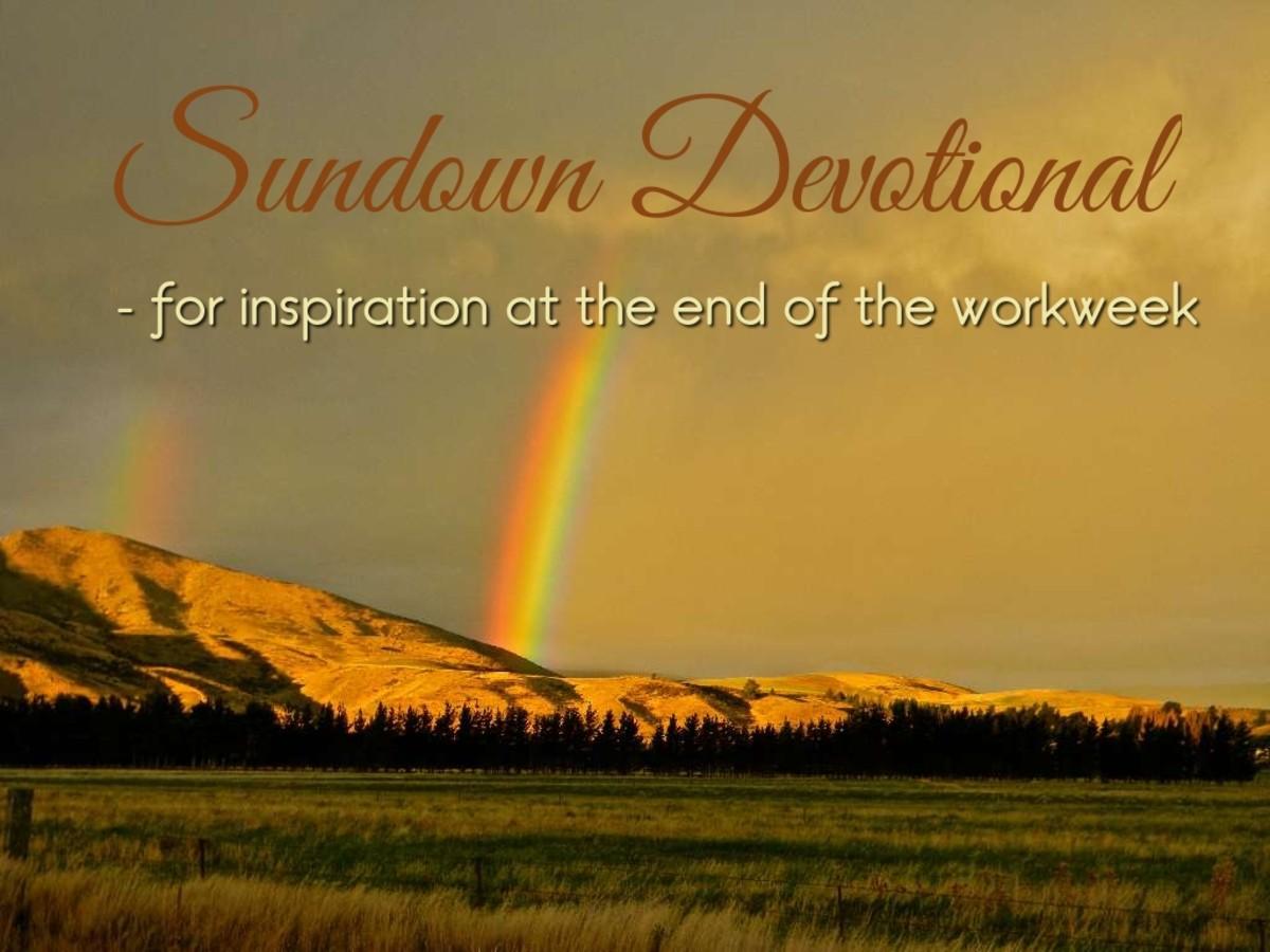 Sundown Devotional: The Rainbow in the Clouds