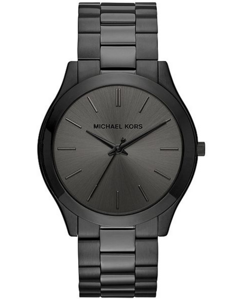 Michael Kors' elegant slim runway watch is perfect for the older man.
