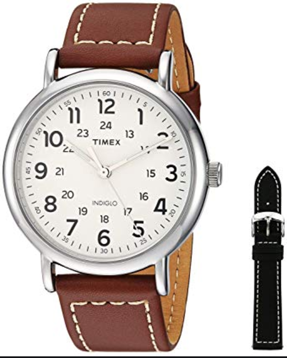 This classic Timex piece is exactly right for  more casual looks and events.