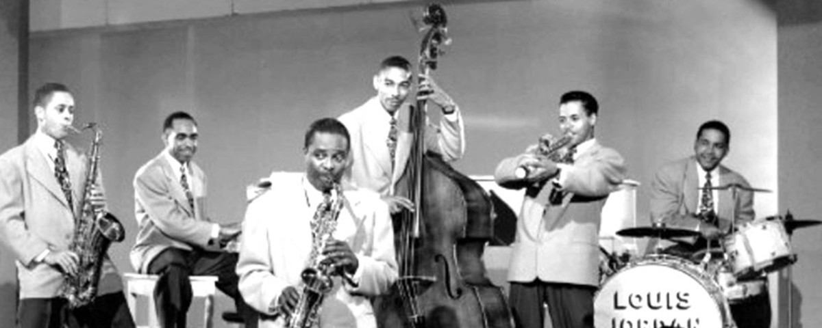Louis Jordan and his Tympany Five were quite popular during the forties.