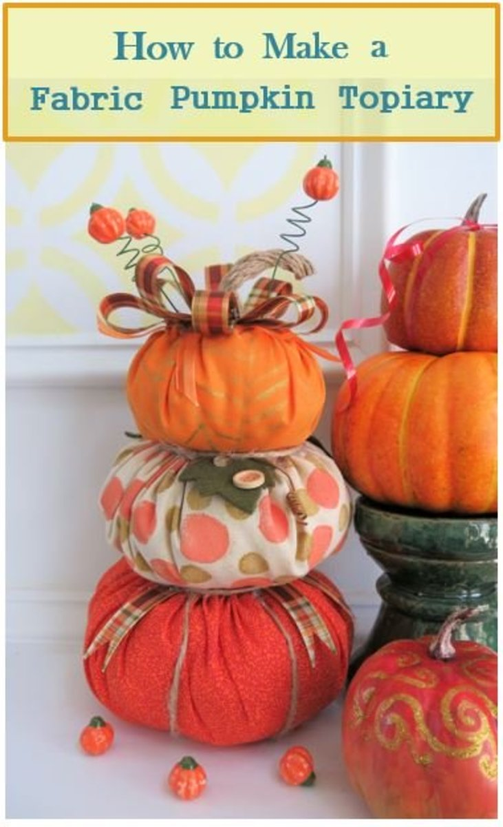 How to Make a Stacked Fabric Pumpkin Topiary