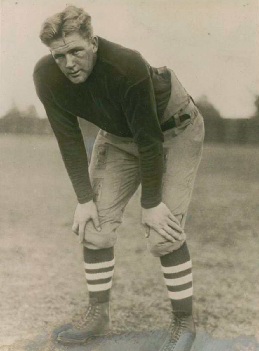 Ernie Nevers was a dominating force in three seasons with the Chicago Cardinals, and was selected as a first-team All-Pro each season from 1929–31.