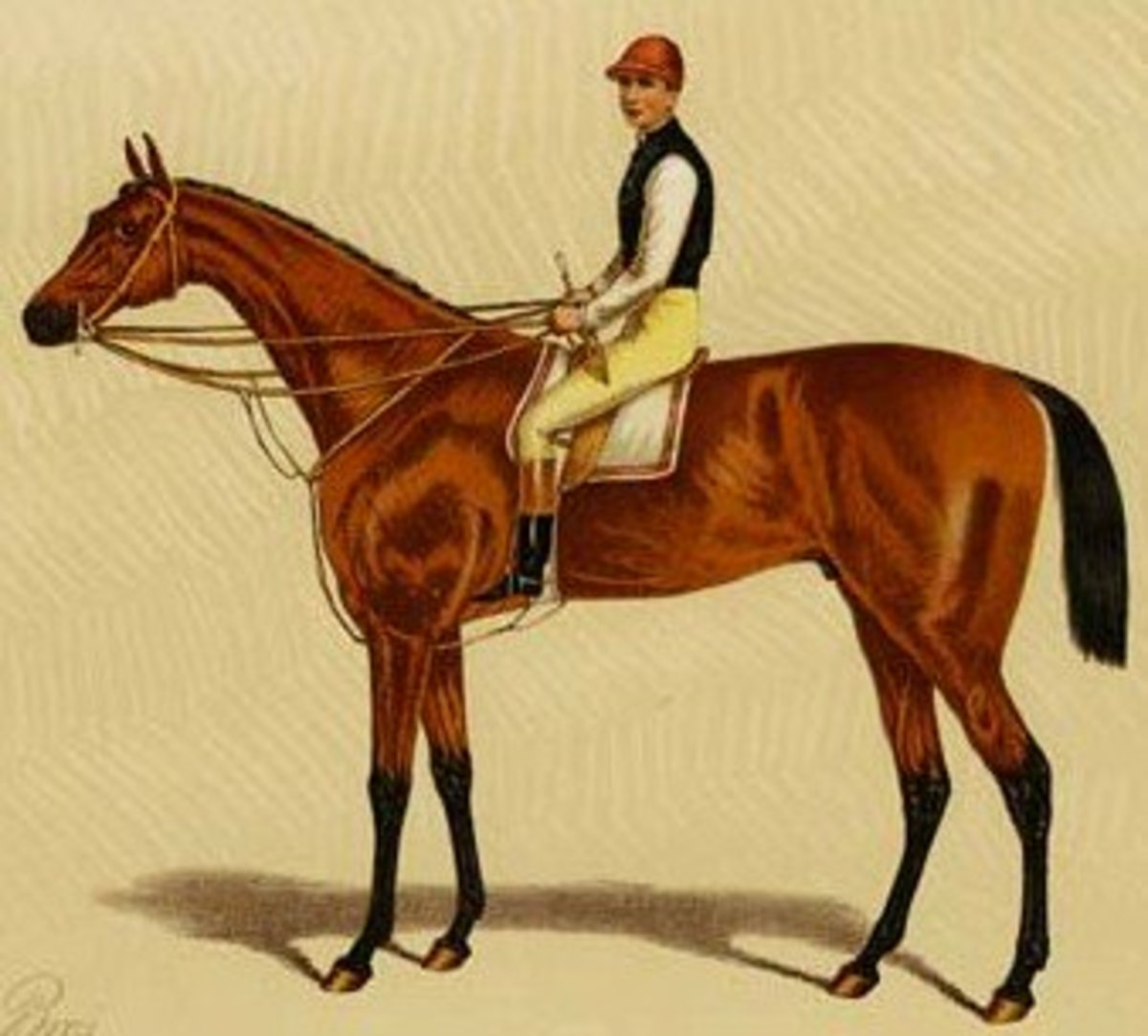 Fred Archer on Silvio his first Epsom Derby winner in 1877.