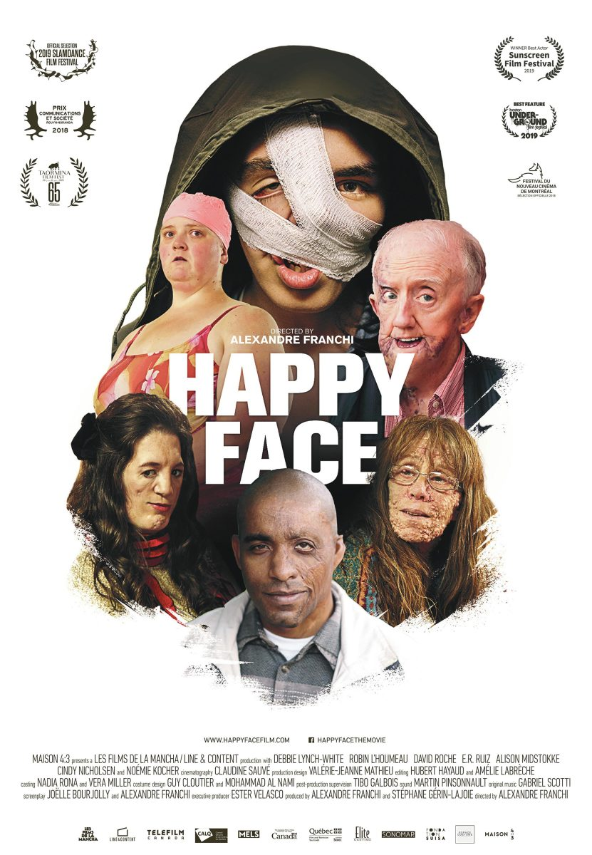 "The official poster for Alexandre Franchi's, ""Happy Face."""
