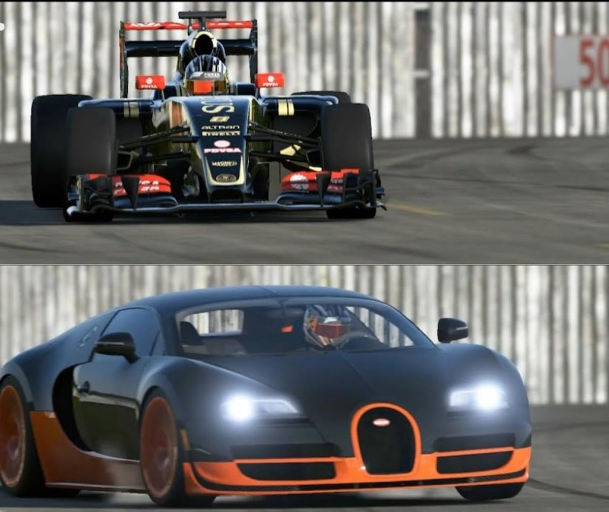Formula 1 Car vs Road Car vs Boat vs Jet