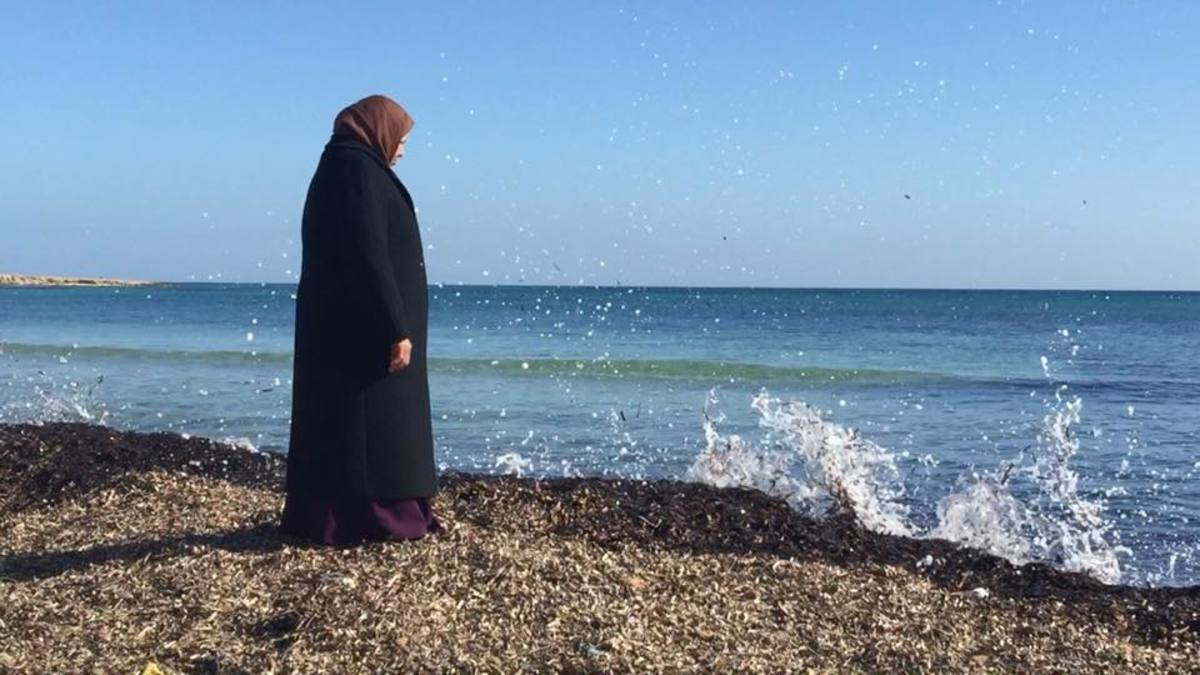 As she looks upon the sea waiting for the return of her husband