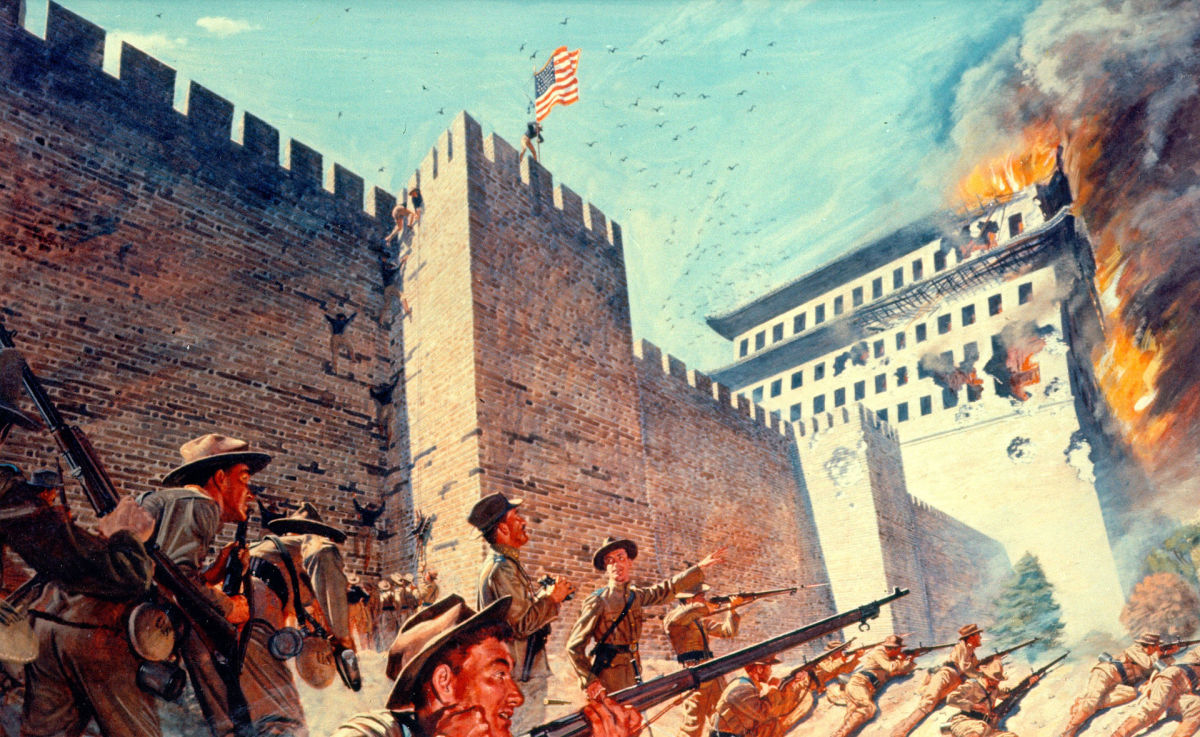 Artistic depiction of the Boxer Rebellion.